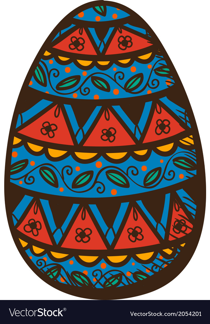 Egg with pattern vector | Price: 1 Credit (USD $1)