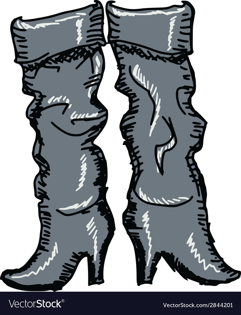 Female boots vector | Price: 1 Credit (USD $1)