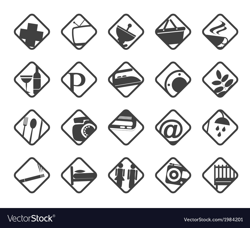 Hotel and motel objects vector   Price: 1 Credit (USD $1)
