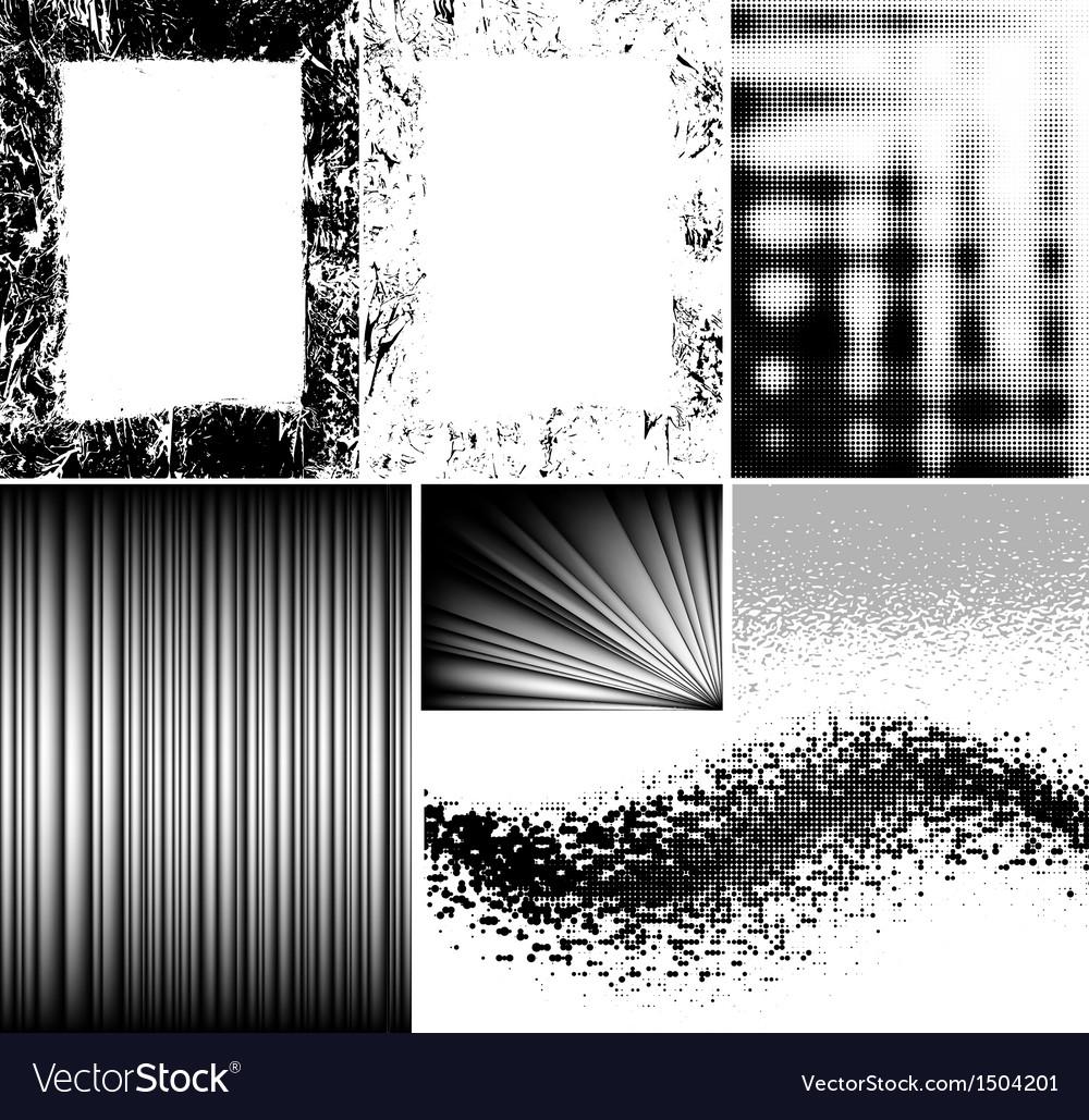 Ink brush strokes set vector   Price: 1 Credit (USD $1)