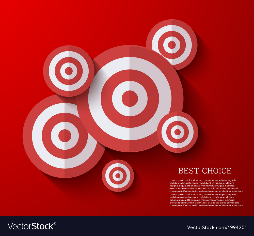 Modern flat darts background eps 10 vector | Price: 1 Credit (USD $1)