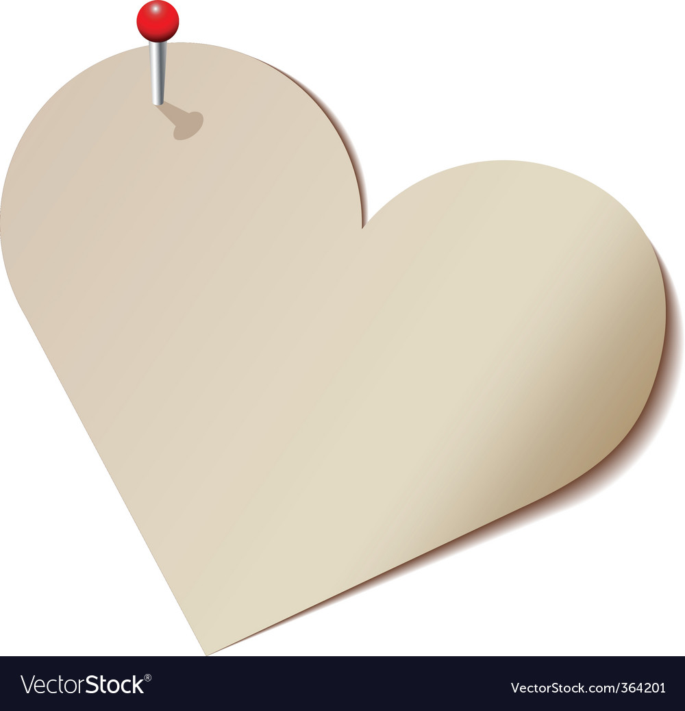 Paper heart vector | Price: 1 Credit (USD $1)