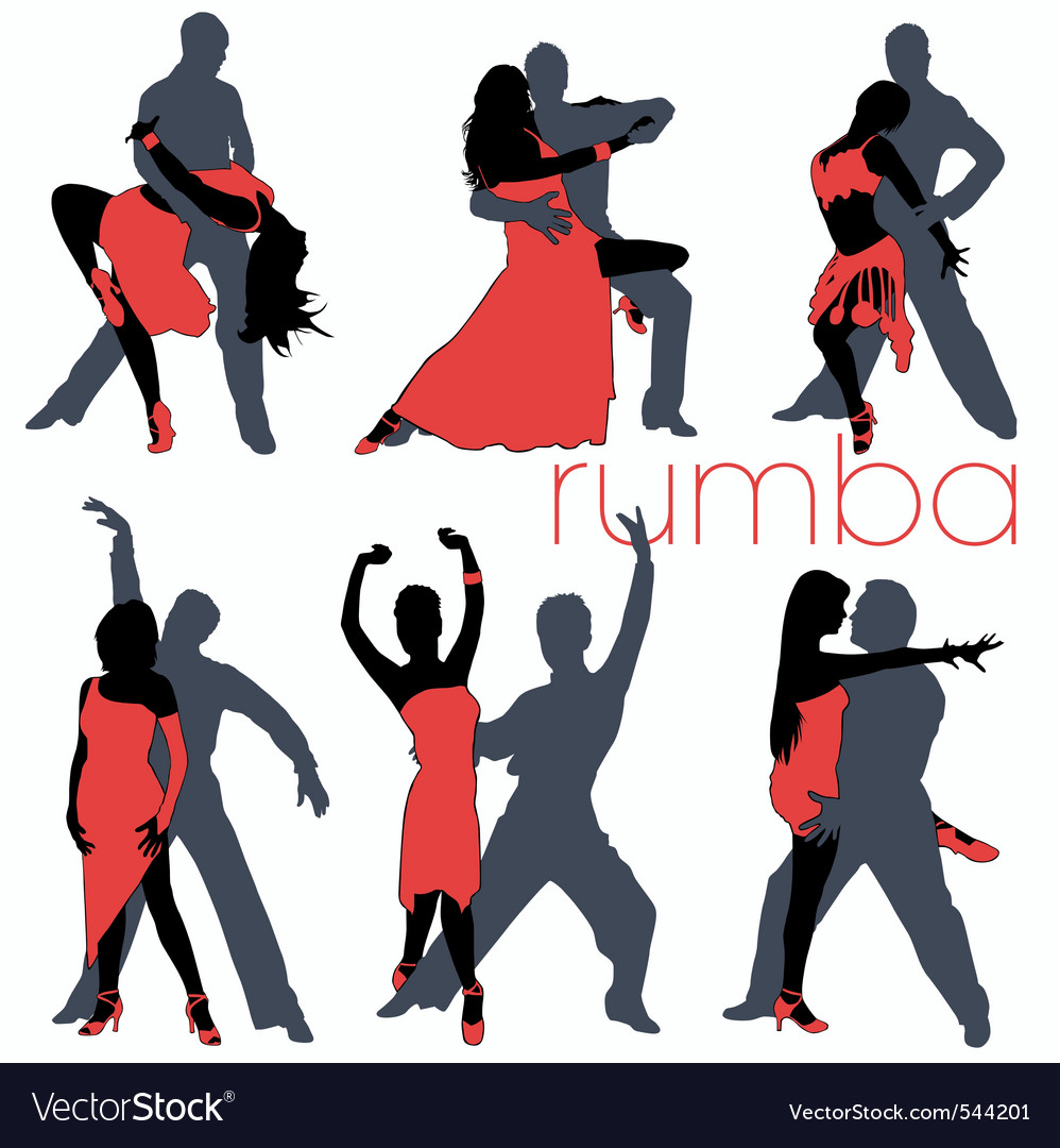 Rumba dancers set vector | Price: 1 Credit (USD $1)