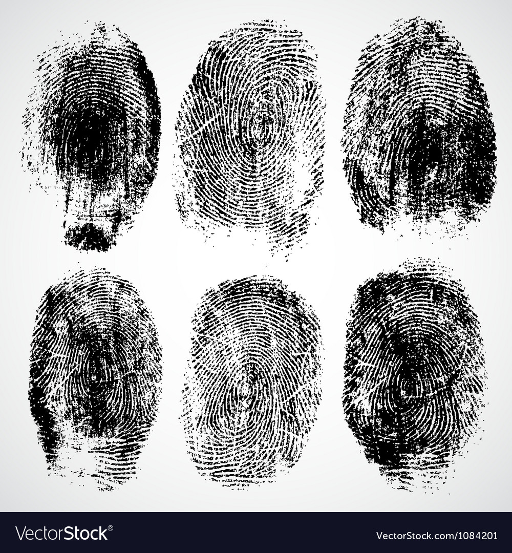 Set of fingerprints vector | Price: 1 Credit (USD $1)