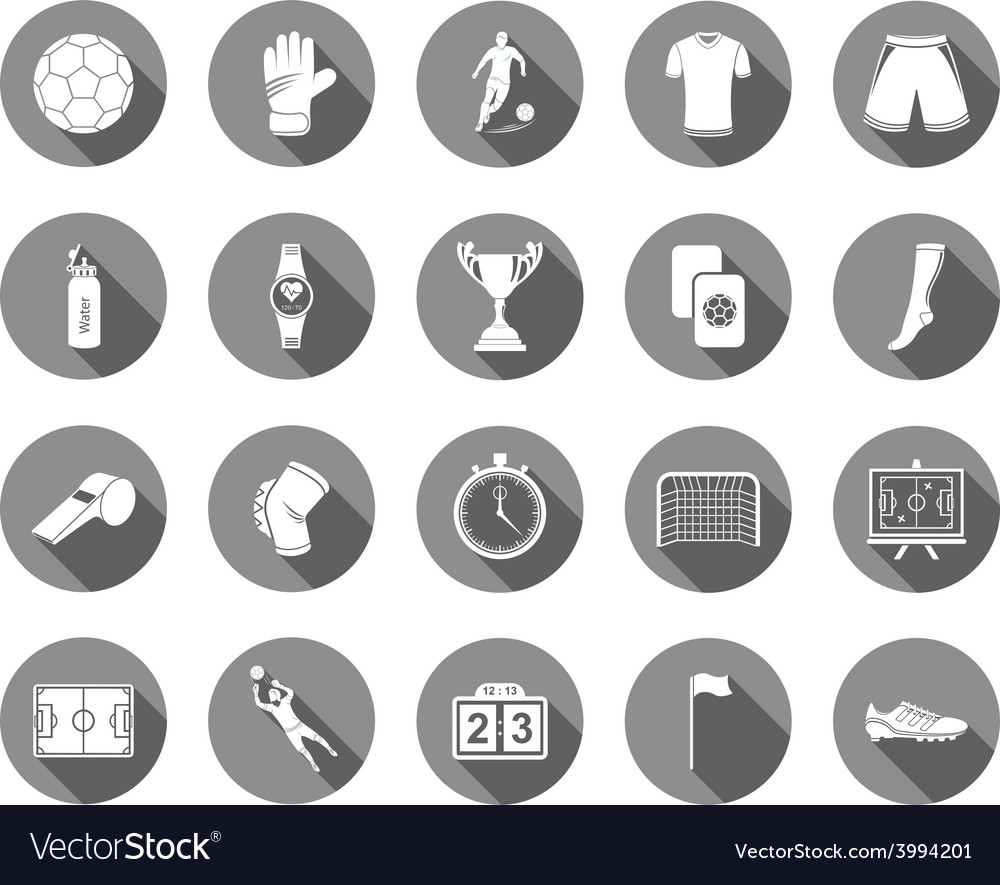 Set of flat icons football vector | Price: 1 Credit (USD $1)