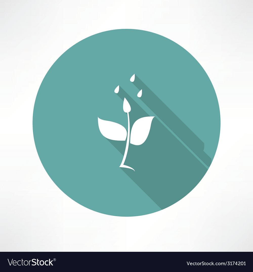 Stem with water icon vector | Price: 1 Credit (USD $1)