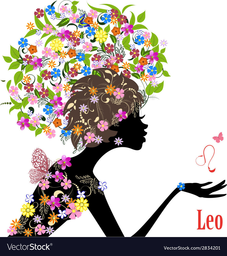 Zodiac sign leo fashion girl vector | Price: 1 Credit (USD $1)