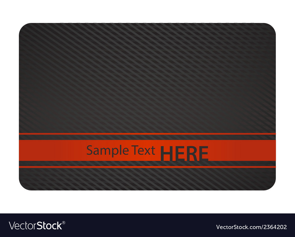 Black business card with texture and red label vector | Price: 1 Credit (USD $1)