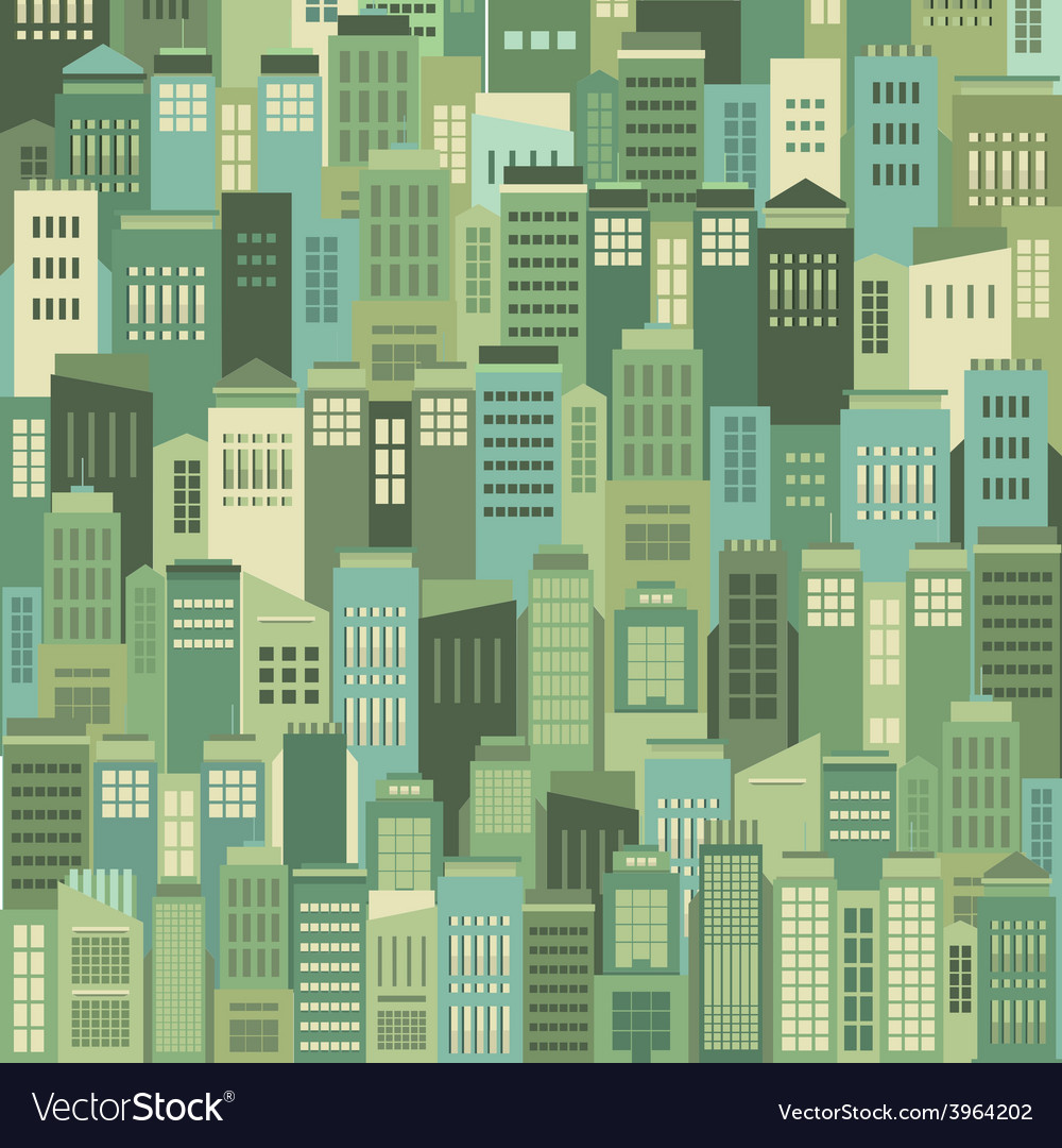 Buildings in the city pattern background vector | Price: 1 Credit (USD $1)