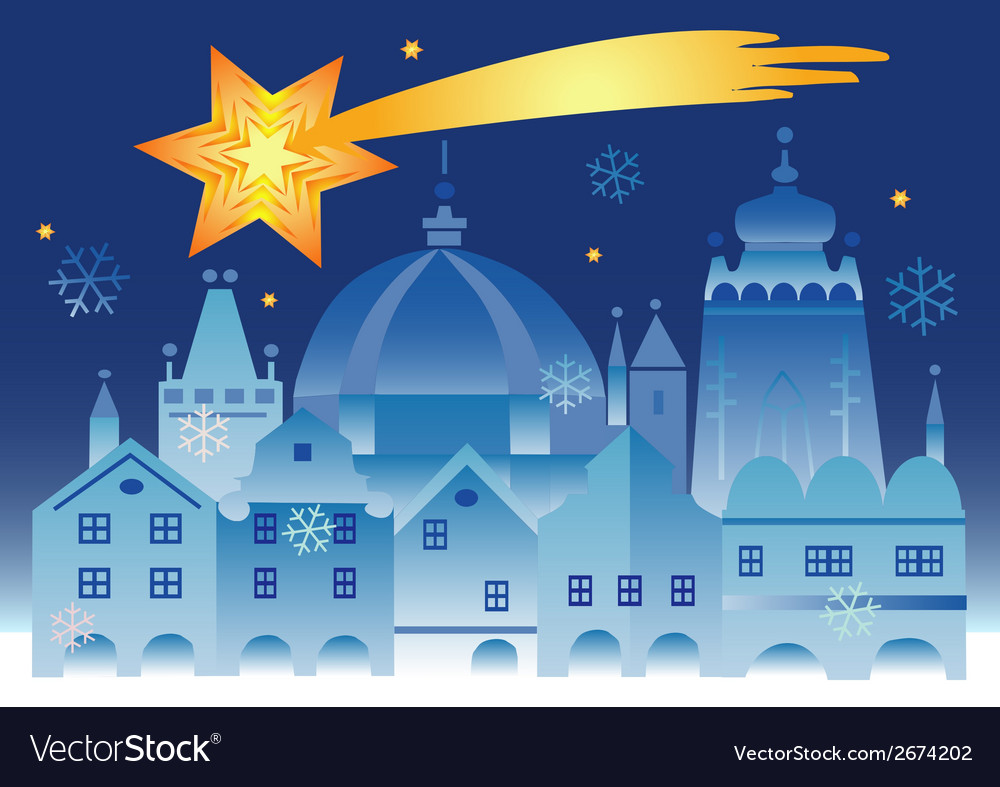 Christmas town bethlehem star vector | Price: 1 Credit (USD $1)