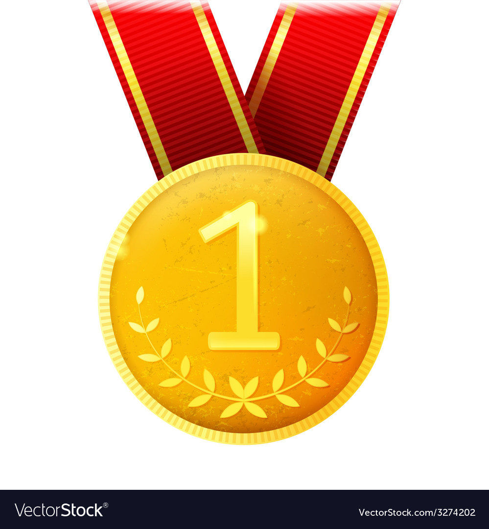 Golden medal vector | Price: 1 Credit (USD $1)