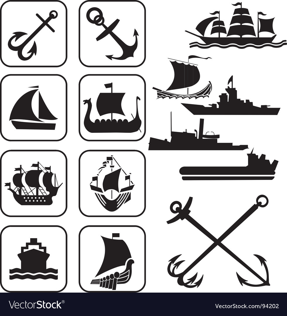 Icons ships vector | Price: 1 Credit (USD $1)