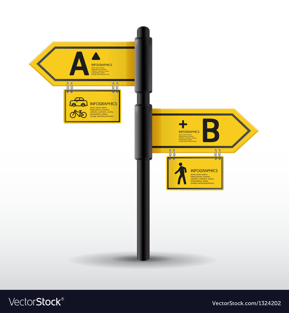 Modern road sign design template vector | Price: 1 Credit (USD $1)