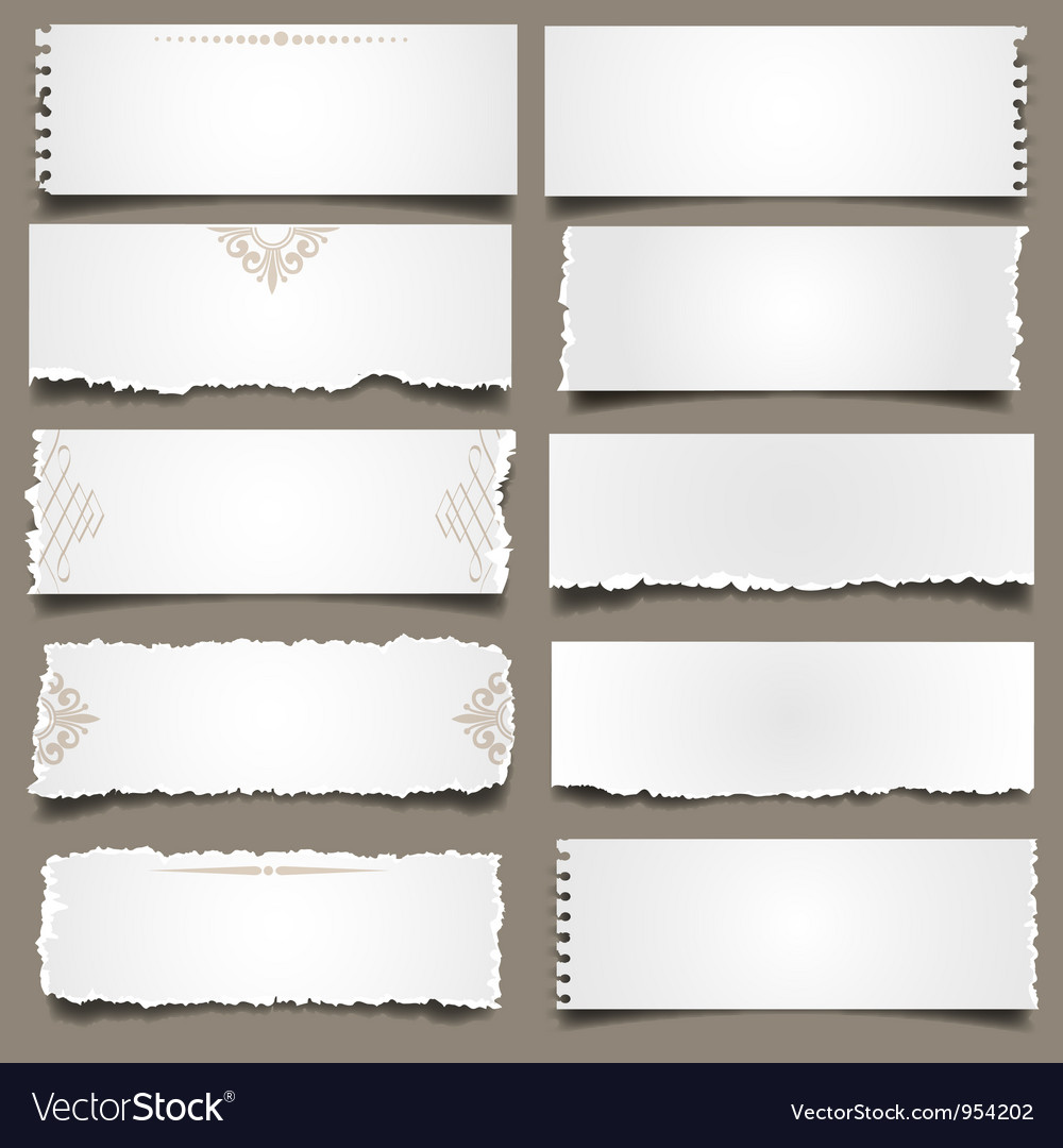 Ten notes paper vector