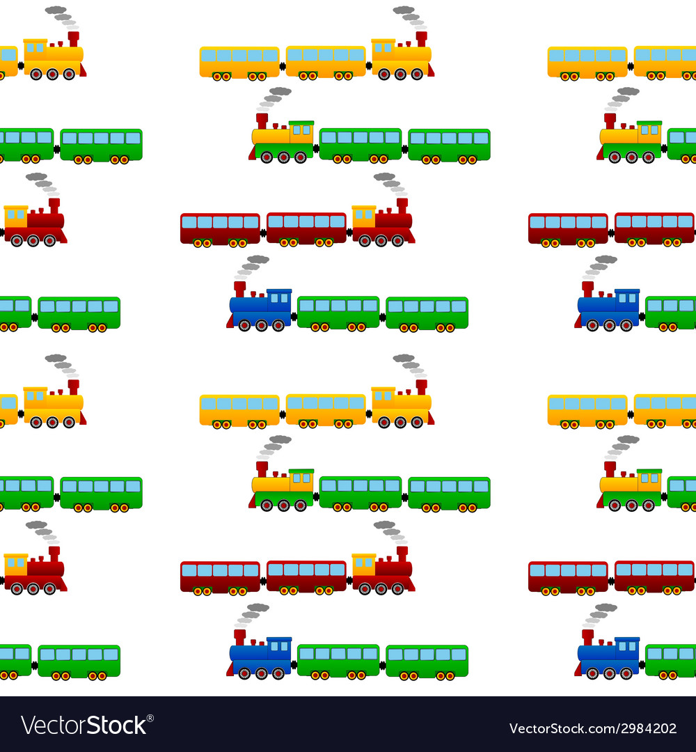 Train seamless pattern vector | Price: 1 Credit (USD $1)