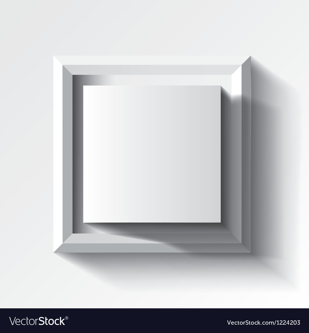Abstract white geometrical background with cube vector | Price: 1 Credit (USD $1)