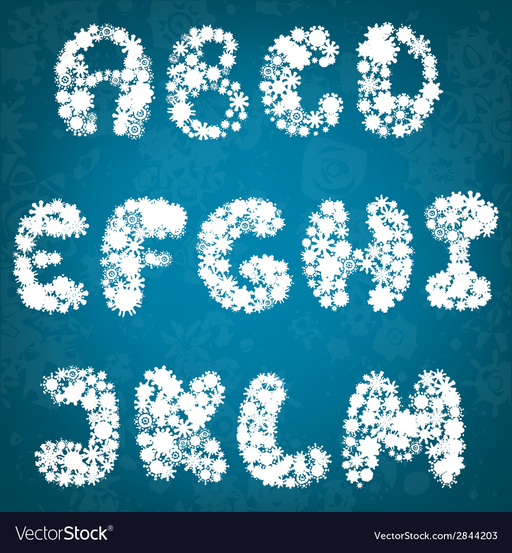 Christmas snowflakes alphabet vector | Price: 1 Credit (USD $1)