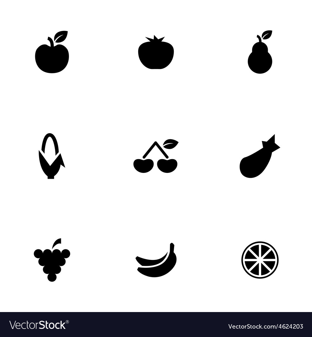 Fruit icons set vector   Price: 1 Credit (USD $1)