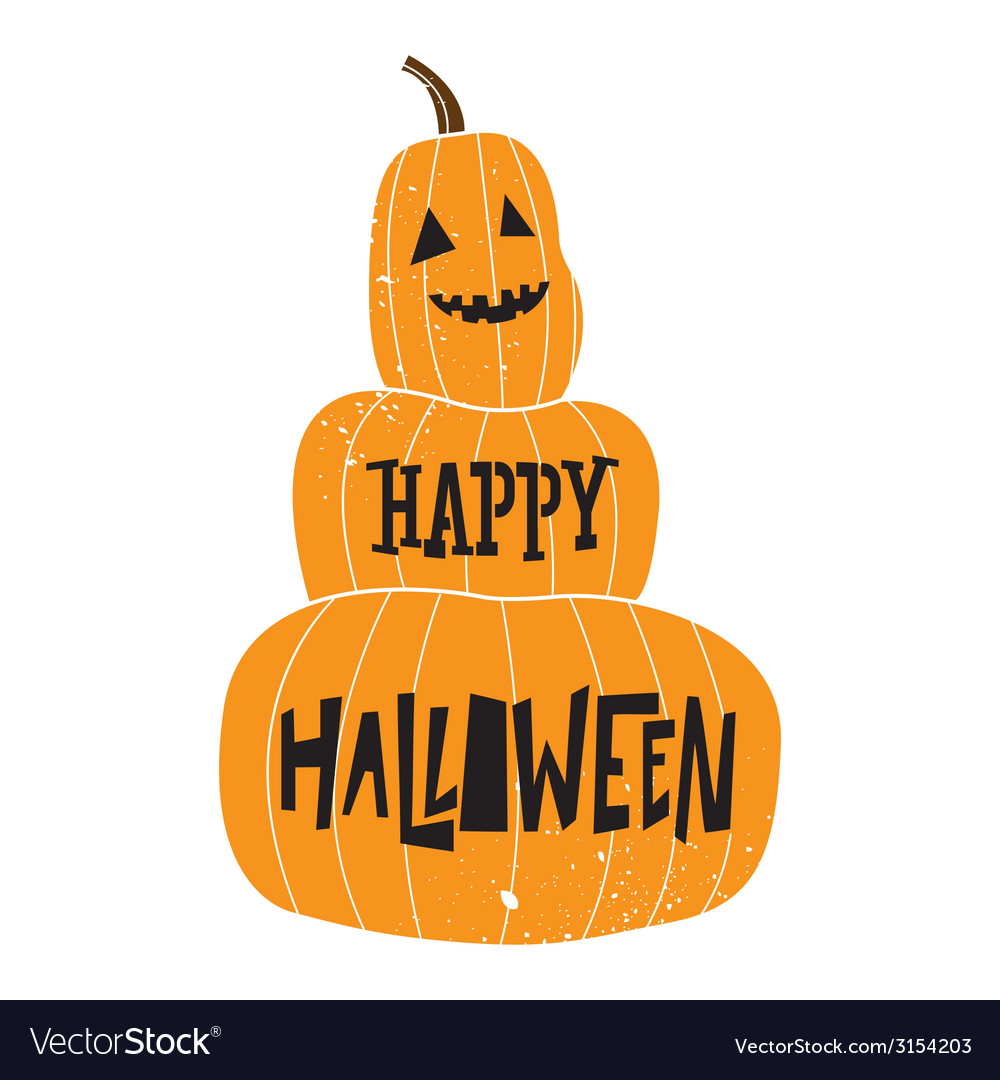 Halloween pumpkin color vector | Price: 1 Credit (USD $1)