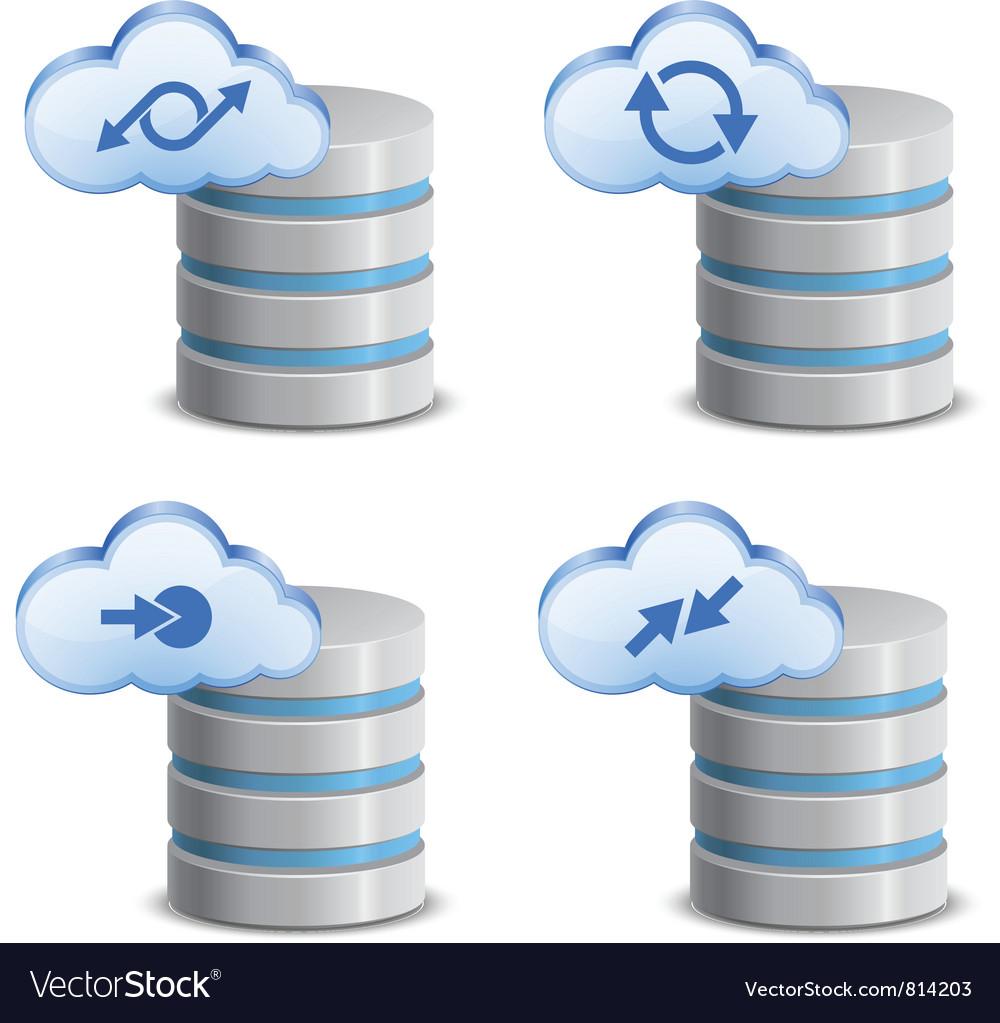 On-line backup service vector | Price: 3 Credit (USD $3)