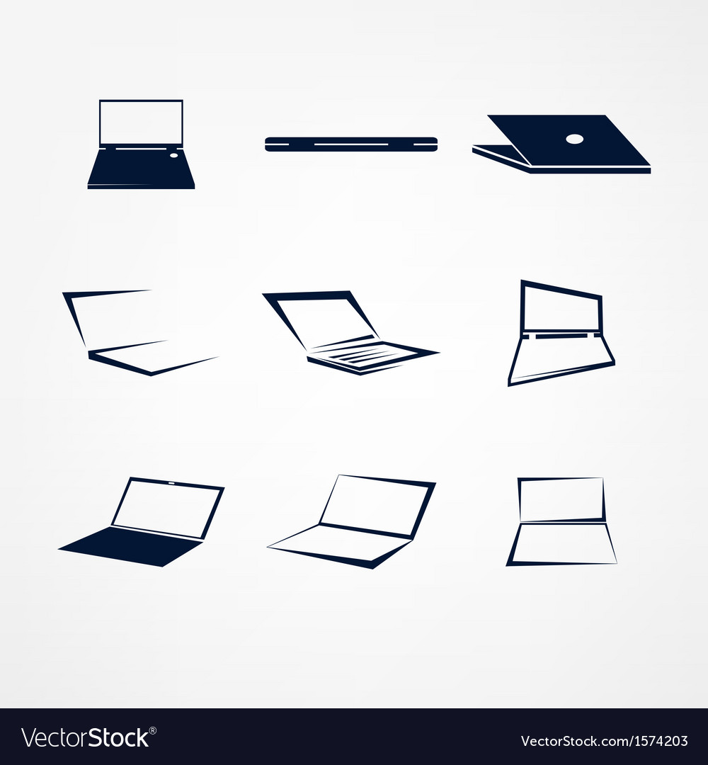 Portable icon set vector | Price: 1 Credit (USD $1)
