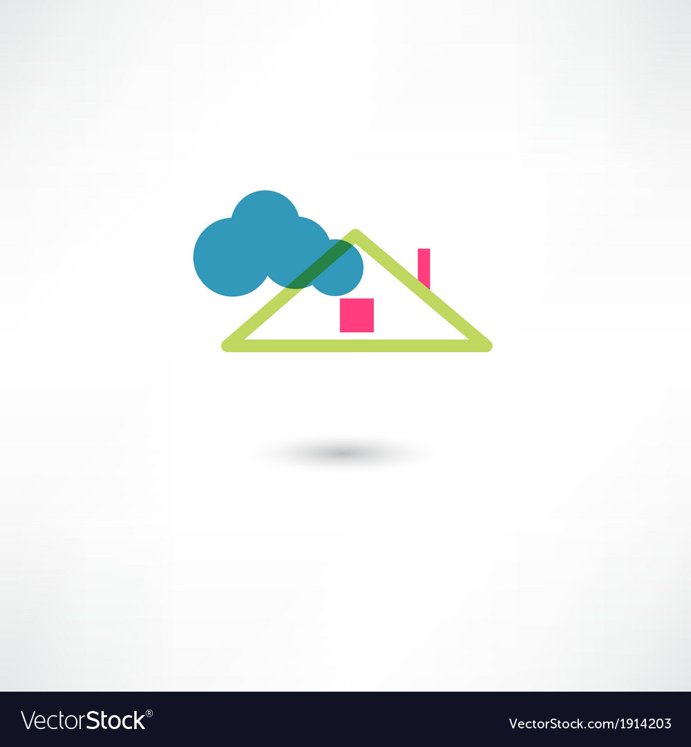 Roof and cloud vector | Price: 1 Credit (USD $1)