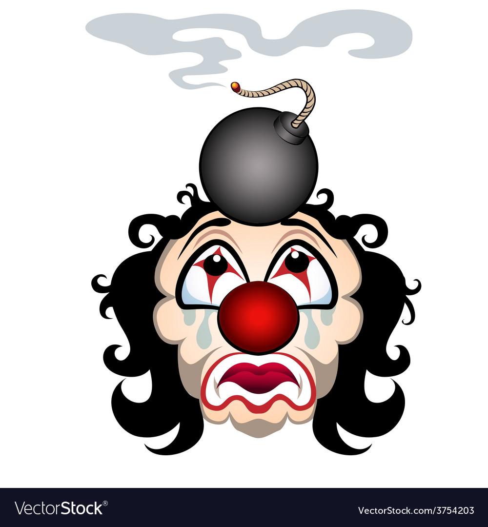 Sad clown vector | Price: 1 Credit (USD $1)