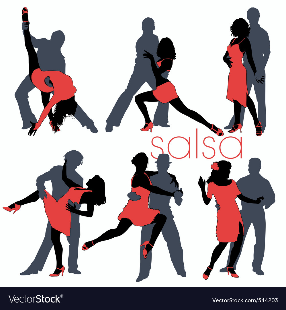 Salsa dancers set vector | Price: 1 Credit (USD $1)