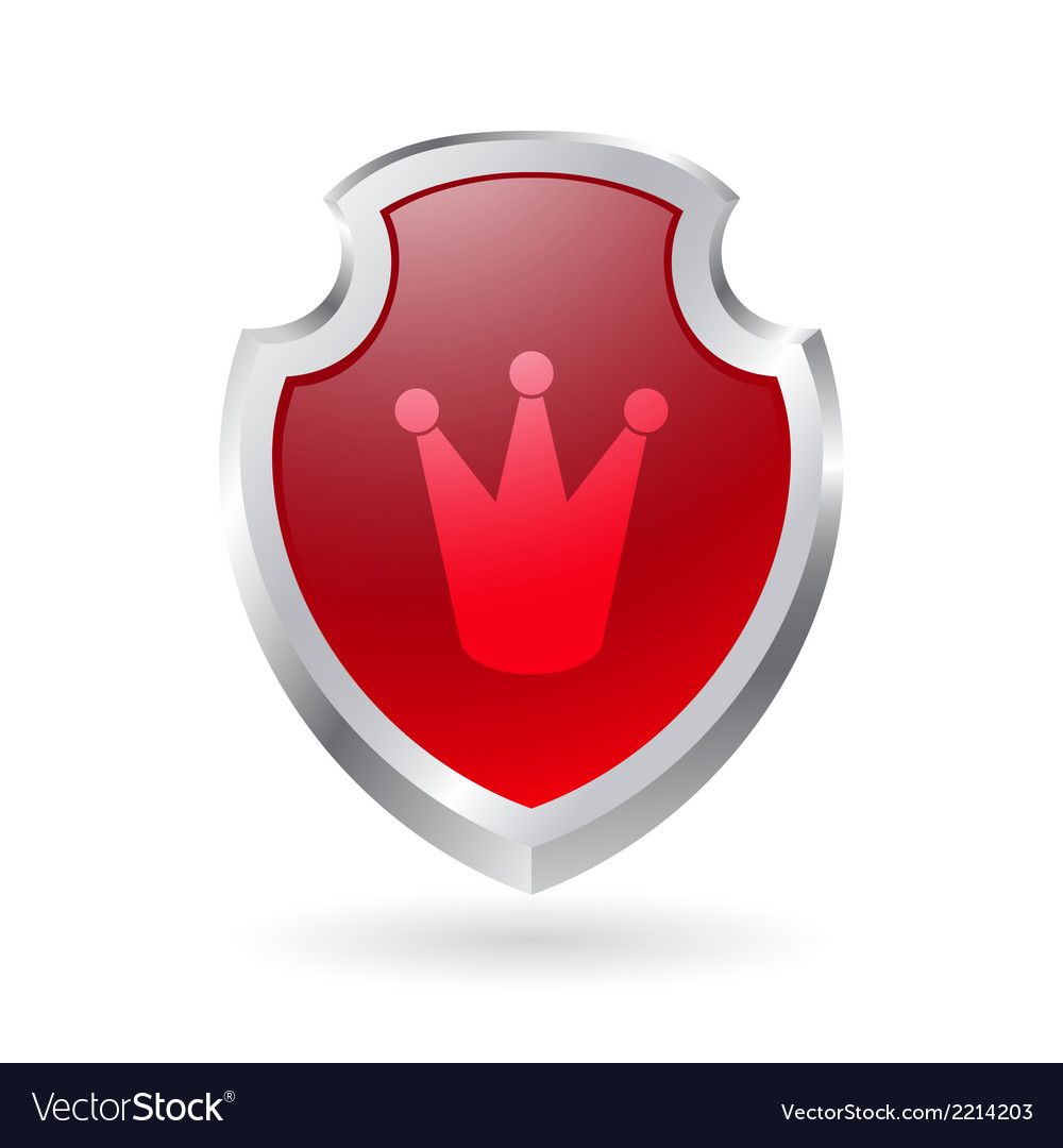 Shield with crown vector | Price: 1 Credit (USD $1)