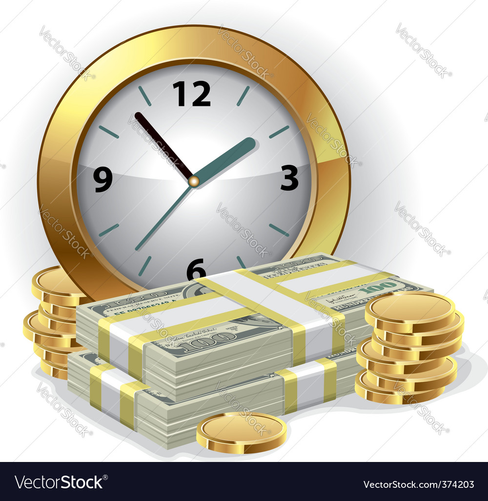 Time is money concept vector   Price: 3 Credit (USD $3)