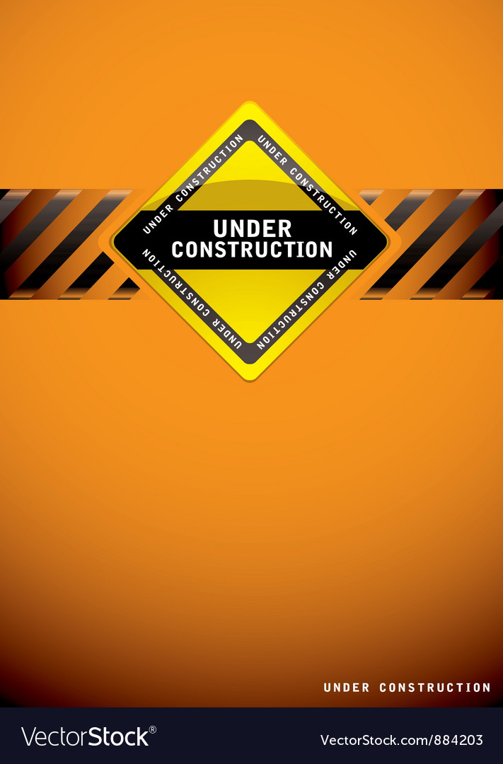 Under construction orange vector | Price: 1 Credit (USD $1)