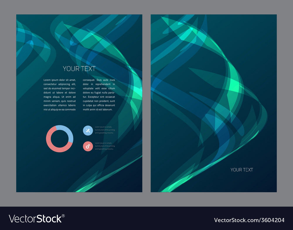 Abstract flyer template vector | Price: 1 Credit (USD $1)