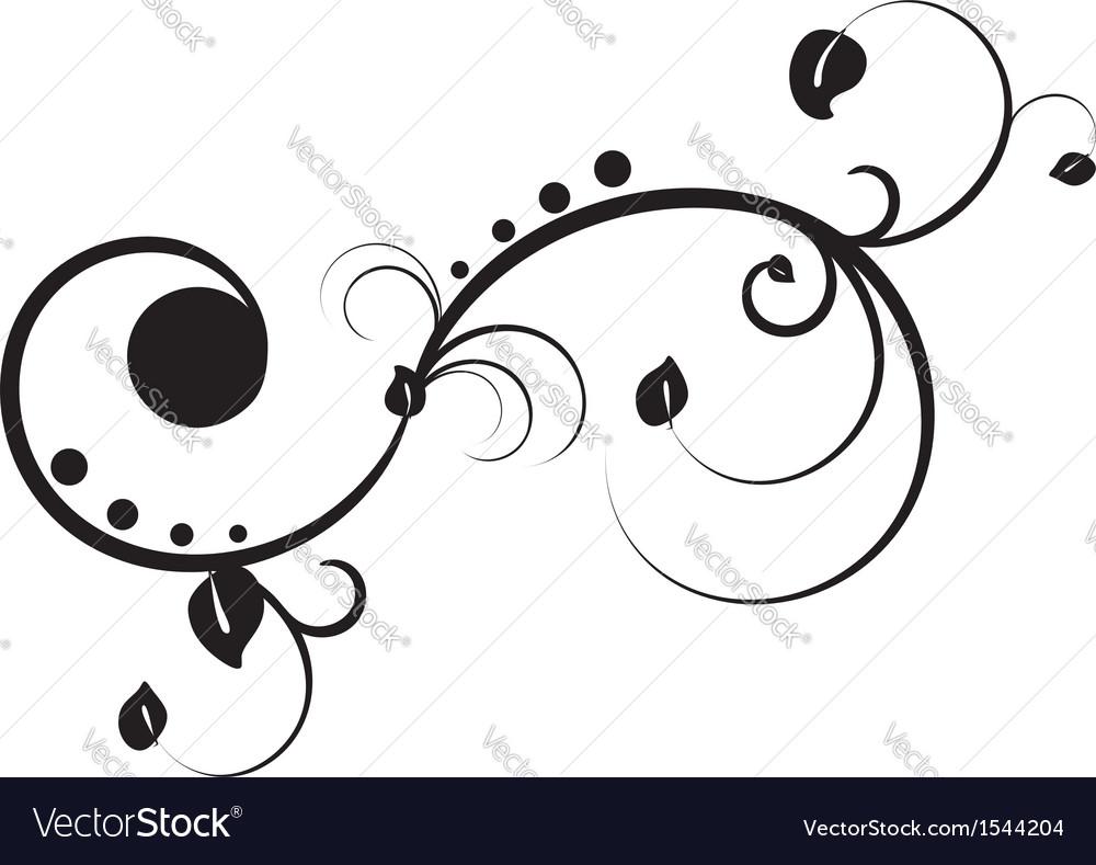 Black floral ornament vector | Price: 1 Credit (USD $1)