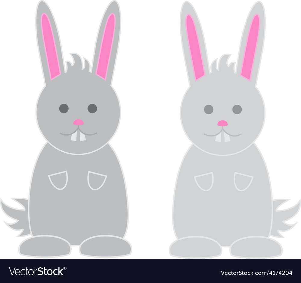 Bunnies vector | Price: 1 Credit (USD $1)