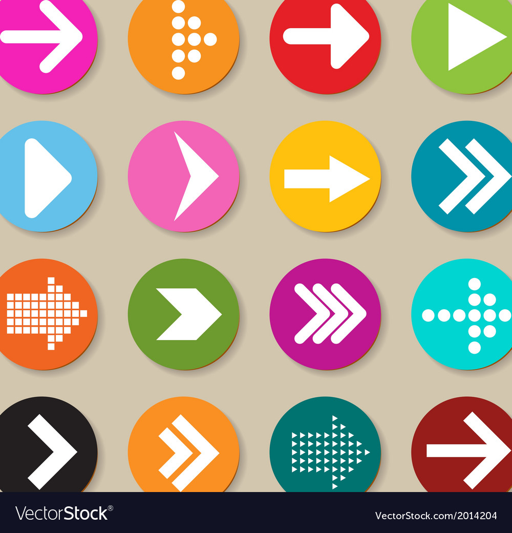 Collection of arrow labels and icons vector | Price: 1 Credit (USD $1)