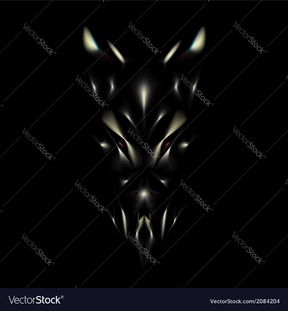Devil face background vector | Price: 1 Credit (USD $1)