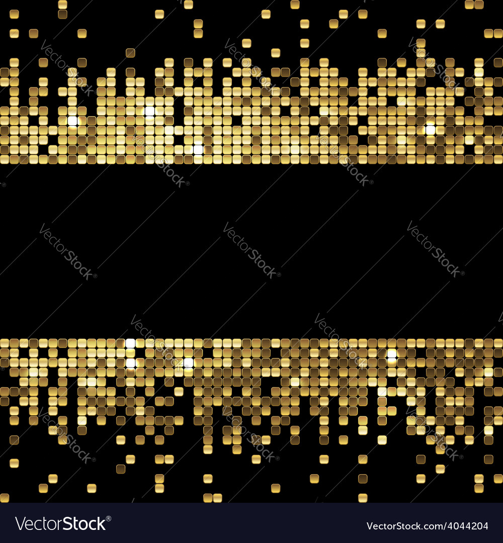 Golden background of sparkling sequins vector | Price: 1 Credit (USD $1)