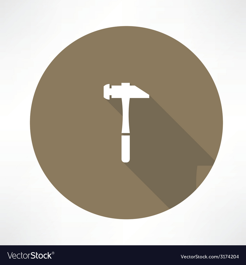 Hammer icon vector | Price: 1 Credit (USD $1)