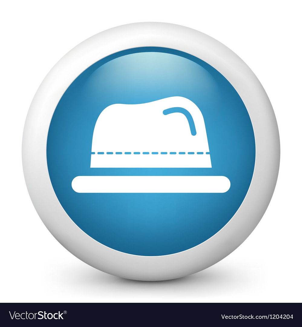 Hat glossy icon vector | Price: 1 Credit (USD $1)