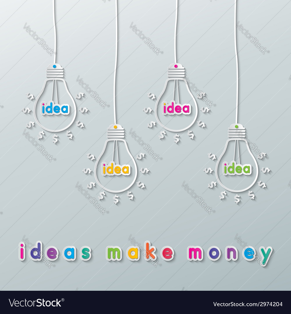 Idea currency bulbs vector | Price: 1 Credit (USD $1)