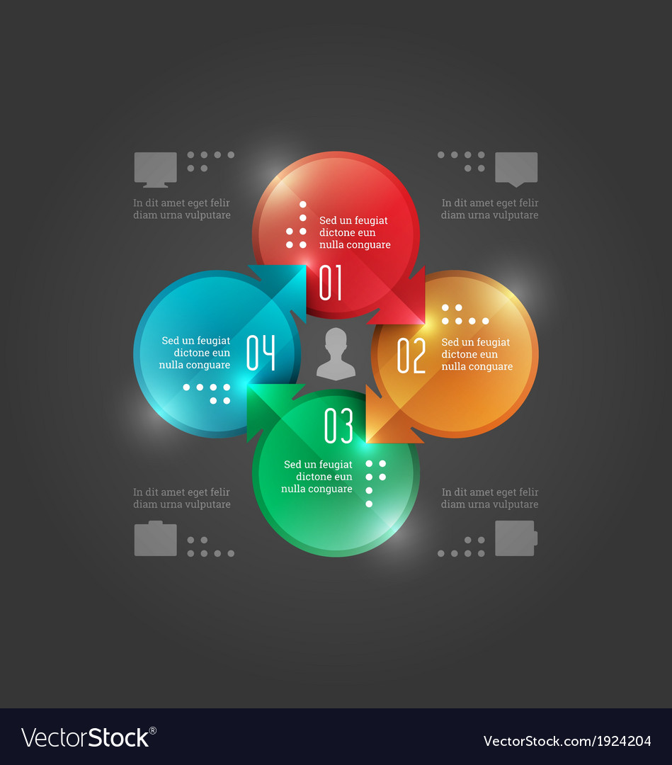 Modern infographics circle diagram vector | Price: 1 Credit (USD $1)
