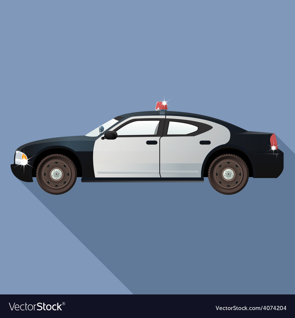 Police car vector | Price: 1 Credit (USD $1)