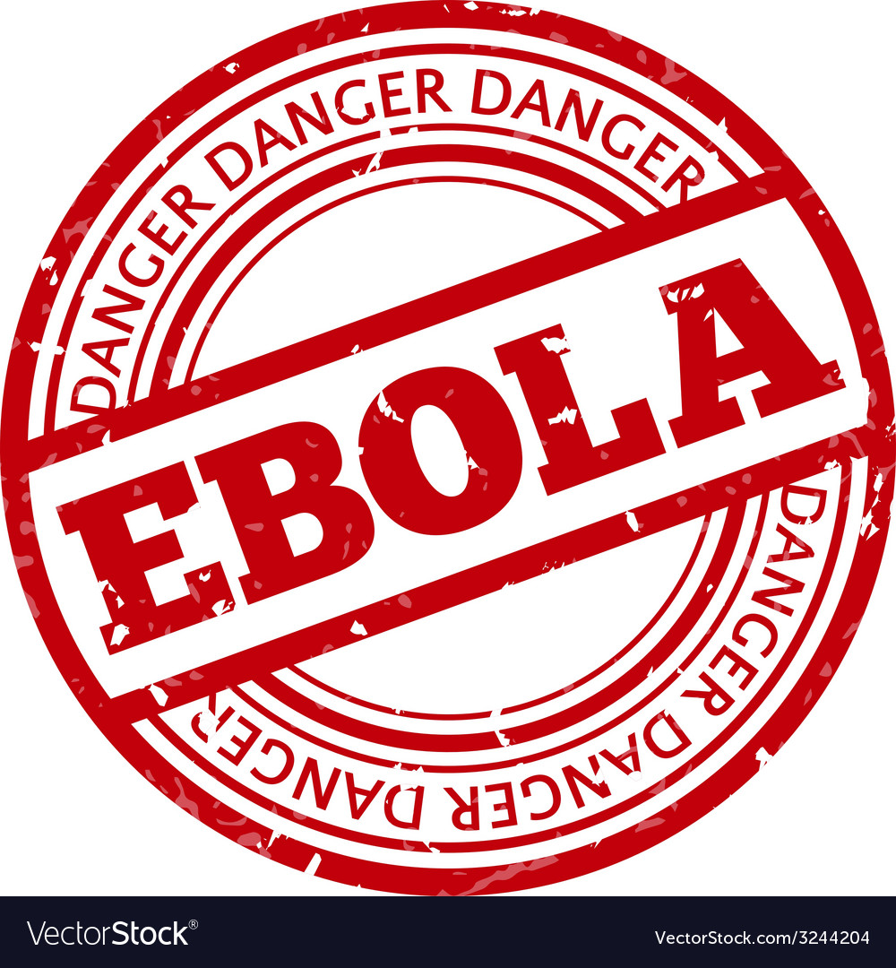 Red stamp with ebola concept text on white vector   Price: 1 Credit (USD $1)