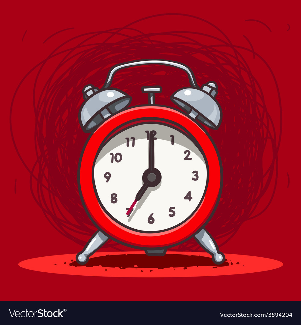 Ringing vintage alarm clock vector | Price: 1 Credit (USD $1)