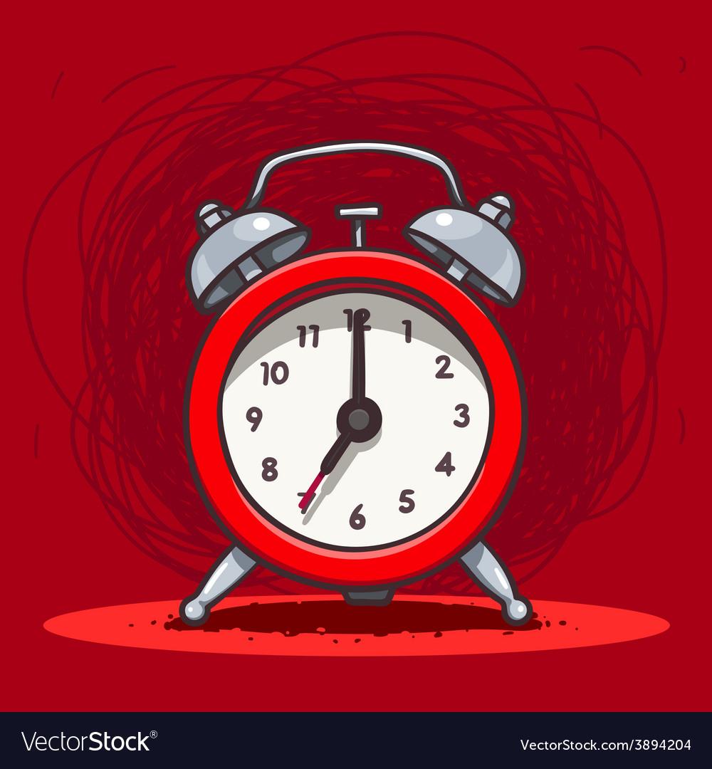 Ringing vintage alarm clock vector | Price: 1 Credit (USD $1)