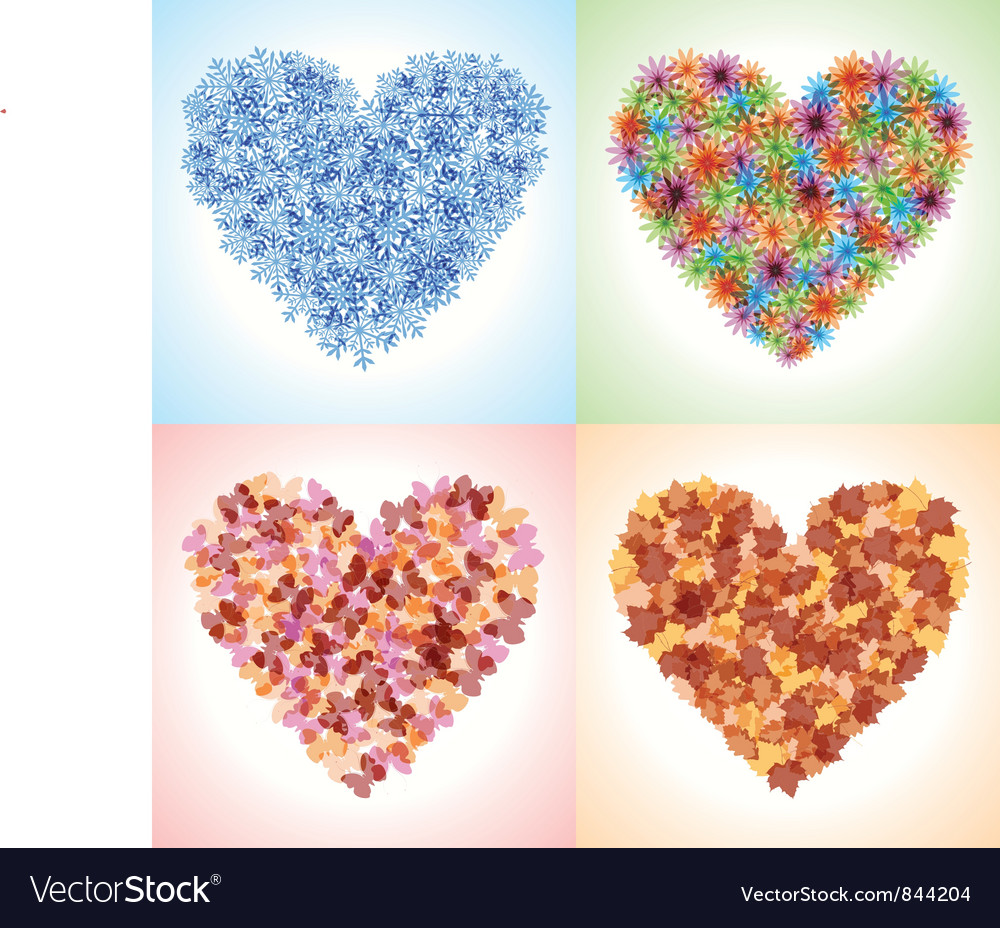 Season hearts vector | Price: 1 Credit (USD $1)