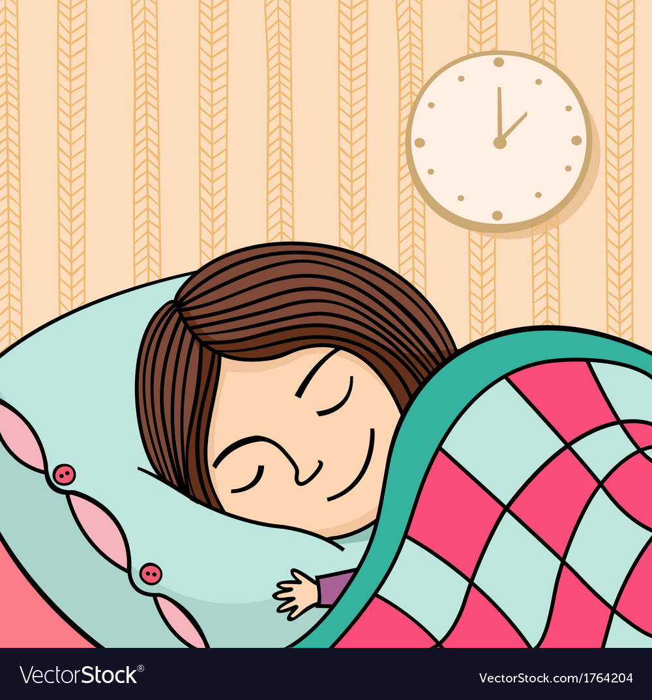 Sleeping girl vector   Price: 1 Credit (USD $1)