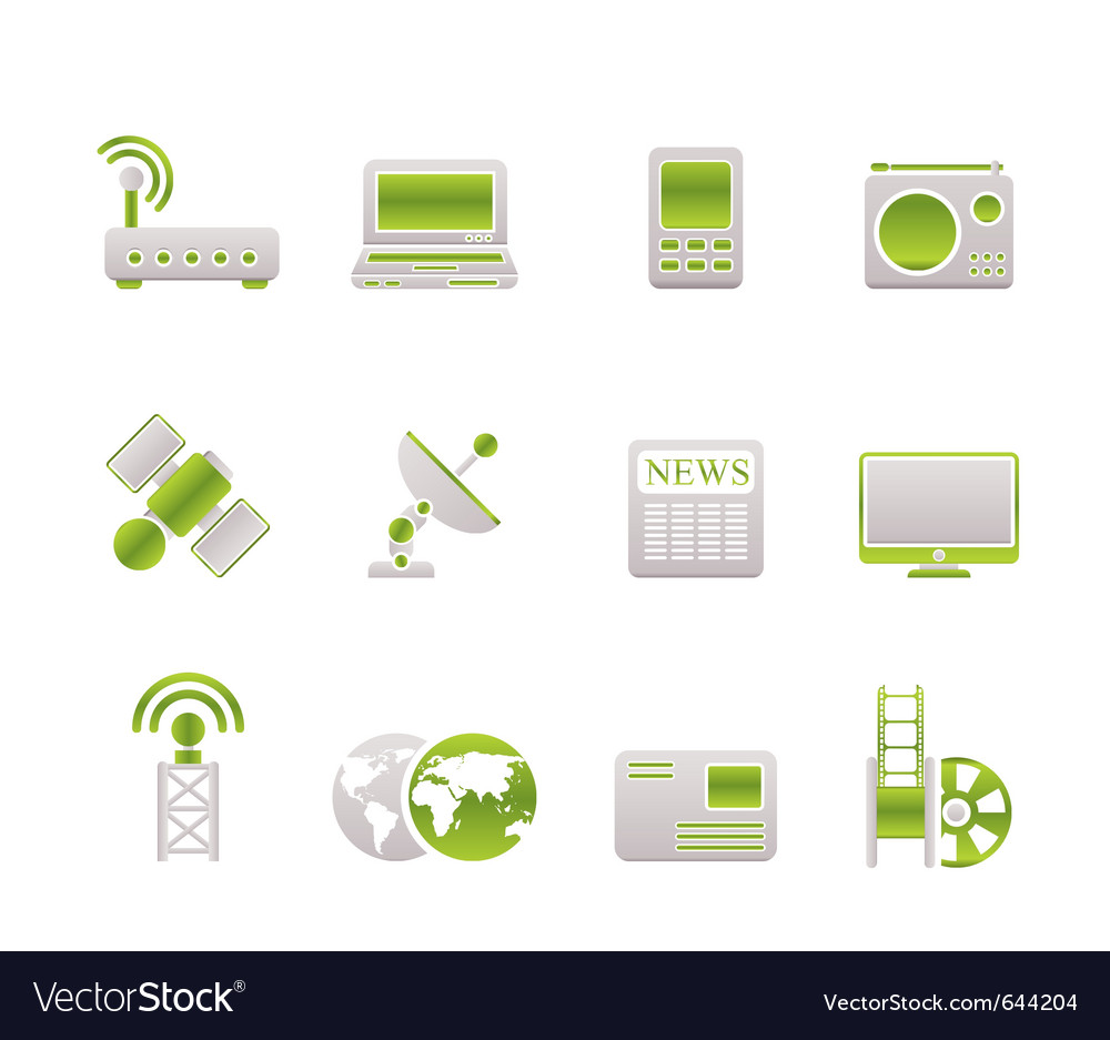 Technology and communications icons vector | Price: 1 Credit (USD $1)