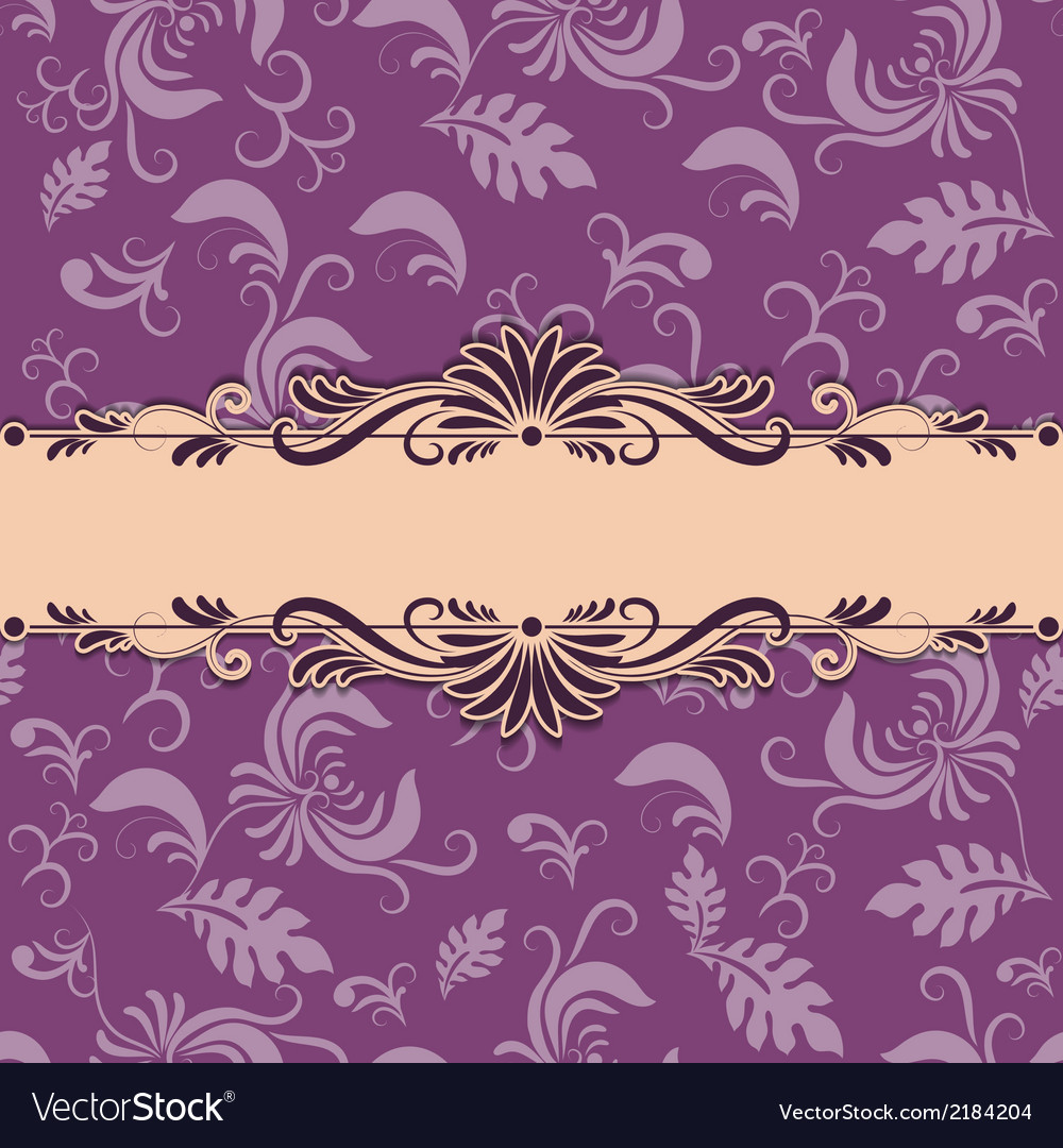 Vintage background with lace pattern vector | Price: 1 Credit (USD $1)
