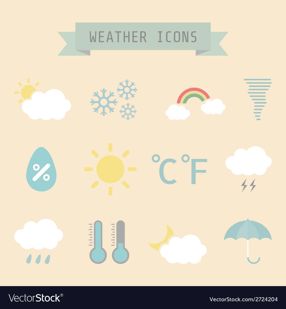 Weatherretro vector | Price: 1 Credit (USD $1)